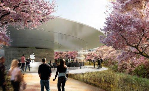 În afara campusului Apple Sursă foto: Macworld