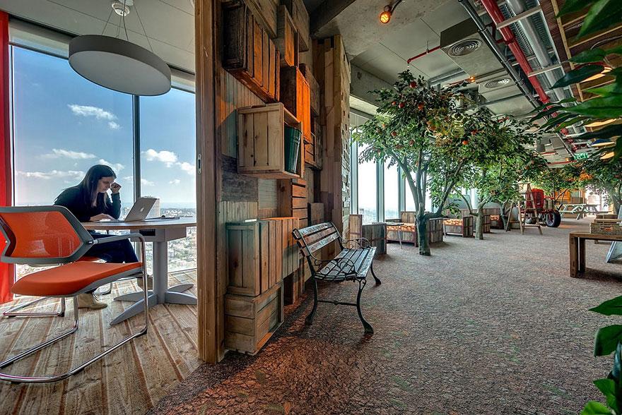Birourile Google din Tel Aviv Sursă foto: Office Snapshots