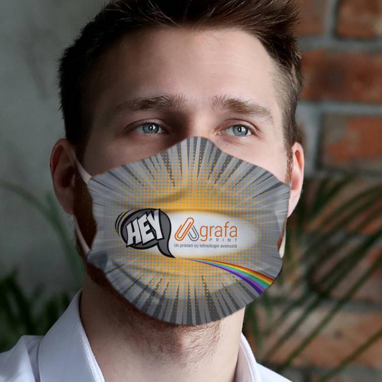 Mască textilă reutilizabilă personalizată